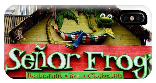Senor Frogs IPhone Case