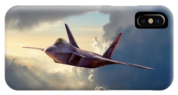 Explosion iPhone X Case - Sentinel Raptor by Peter Chilelli