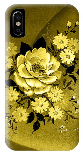 Sepia Bouquet IPhone Case