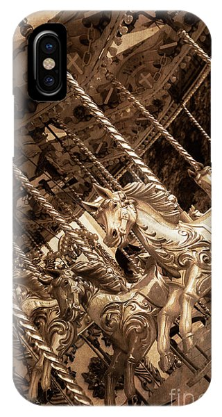 Sepia Carousel Horse IPhone Case