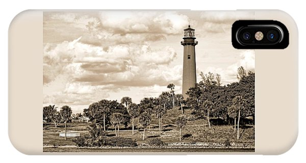 Sepia Lighthouse IPhone Case