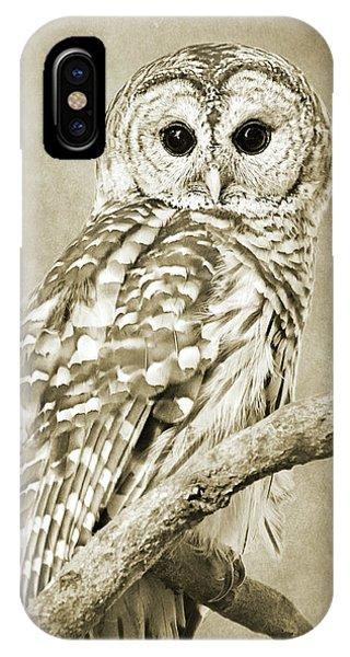 Sepia Owl IPhone Case