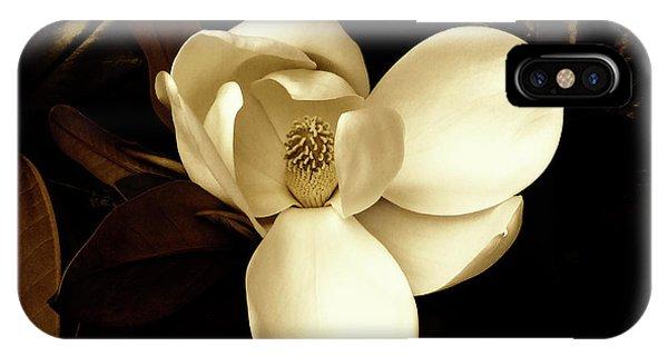 Sepia-toned Magnolia IPhone Case