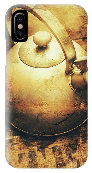 Sepia Toned Old Vintage Domed Kettle IPhone Case