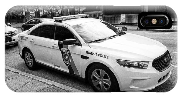 septa southeastern pennsylvania transit authority transit police ford cruiser patrol car Philadelphi IPhone Case