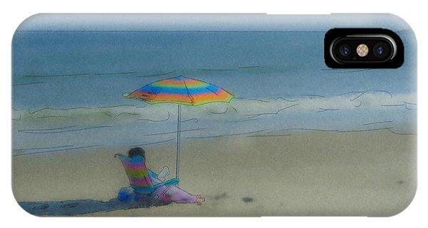 September Beach Reader IPhone Case