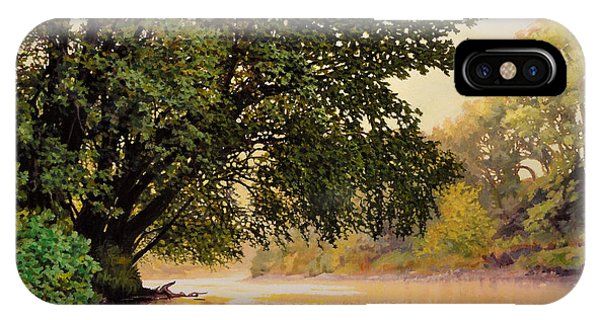 September Dawn, Little Sioux River - Studio Painting IPhone Case