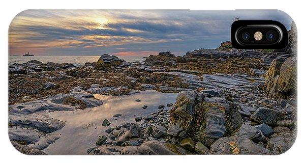 Navigation iPhone Case - September Morn At Portland Head by Rick Berk