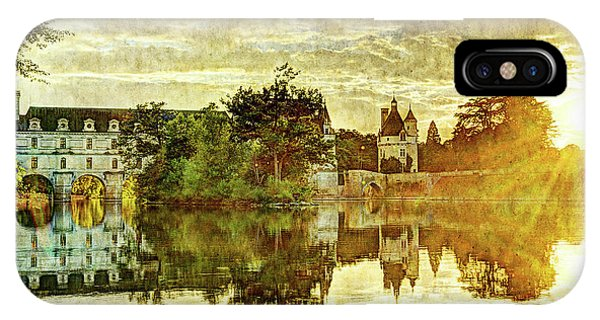 September Sunset In Chenonceau - Vintage Version IPhone Case