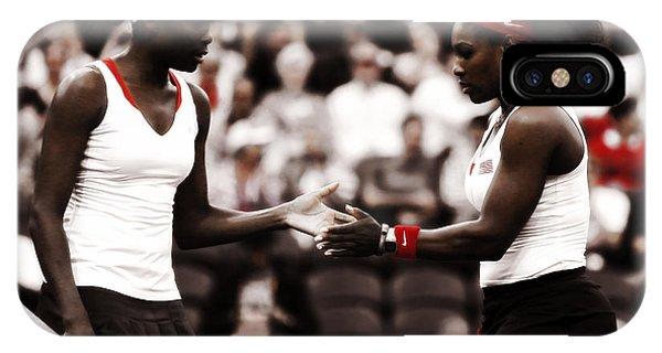 Venus Williams iPhone Case - Serena And Venus Williams by Brian Reaves