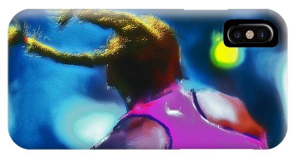 Venus Williams iPhone Case - Serena Smash by Brian Reaves