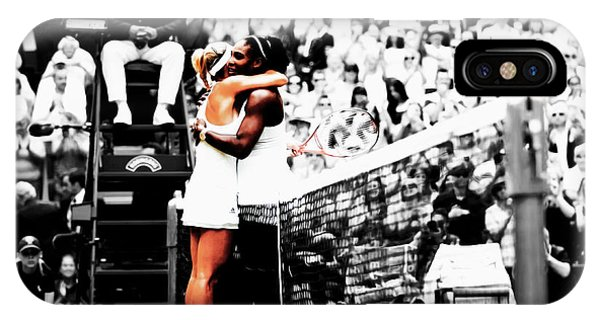 Venus Williams iPhone Case - Serena Williams And Angelique Kerber 1a by Brian Reaves