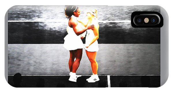Serena Williams And Angelique Kerber 3a IPhone Case