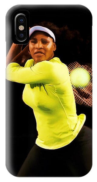 Venus Williams iPhone Case - Serena Williams Bamm by Brian Reaves