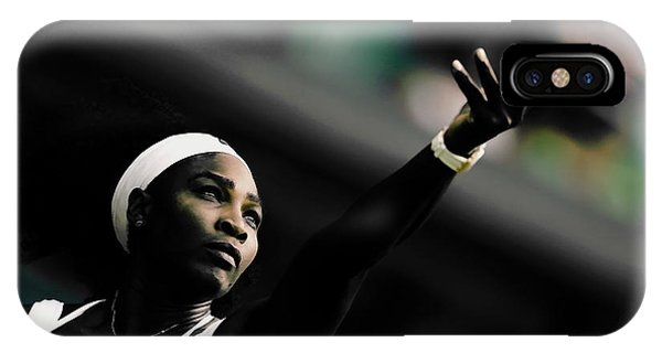 Venus Williams iPhone Case - Serena Williams Commitment And Passion by Brian Reaves