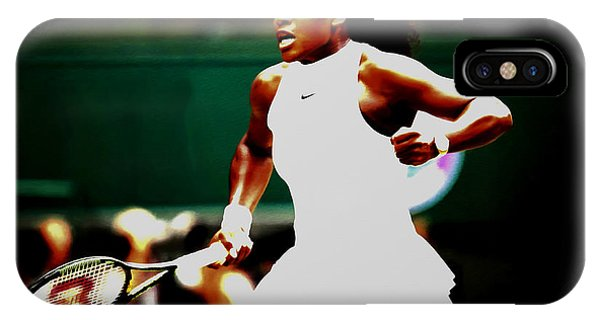 Venus Williams iPhone Case - Serena Williams Making History by Brian Reaves