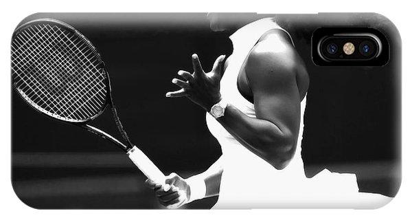 Venus Williams iPhone Case - Serena Williams Making Magic Happen by Brian Reaves