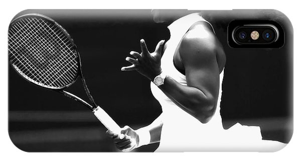 Venus Williams iPhone Case - Serena Williams Making Magic Happen by Brian Reaves