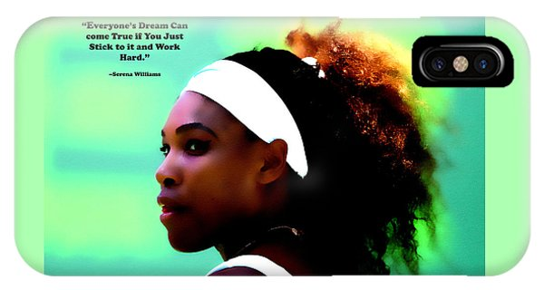 Venus Williams iPhone Case - Serena Williams Motivational Quote 1a by Brian Reaves