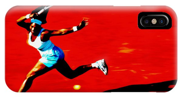 Venus Williams iPhone Case - Serena Williams Never Give Up by Brian Reaves