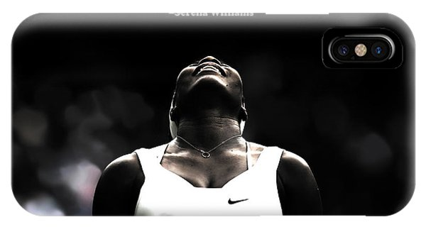 Venus Williams iPhone Case - Serena Williams Quote 2a by Brian Reaves