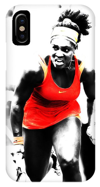 Venus Williams iPhone Case - Serena Williams Go Get It by Brian Reaves