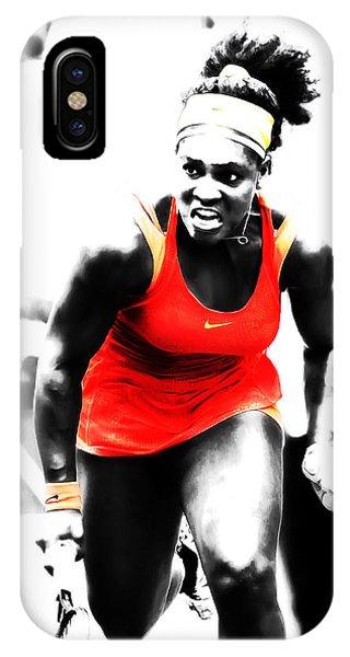 Venus Williams iPhone Case - Serena Williams Go Get It by Brian Reaves