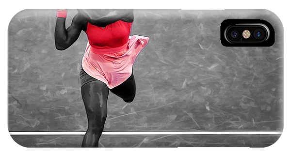 Venus Williams iPhone Case - Serena Williams Strong Return by Brian Reaves