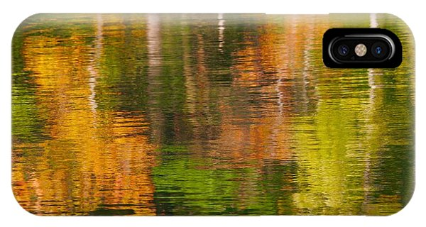 Serene Autumn Reflection IPhone Case