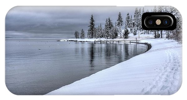 Serene Beauty Of Lake Tahoe Winter IPhone Case