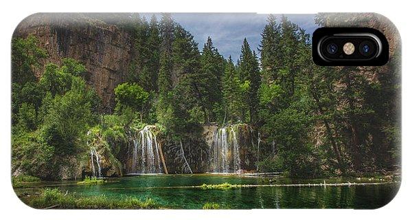 Serene Hanging Lake Waterfalls IPhone Case