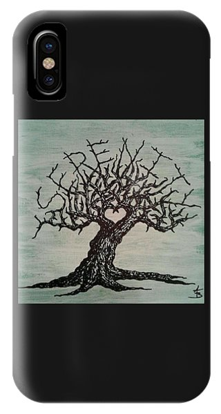 IPhone Case featuring the drawing Serenity Love Tree by Aaron Bombalicki