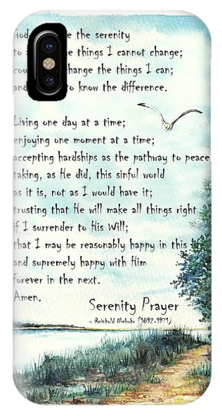 Serenity Prayer The Full Version IPhone Case