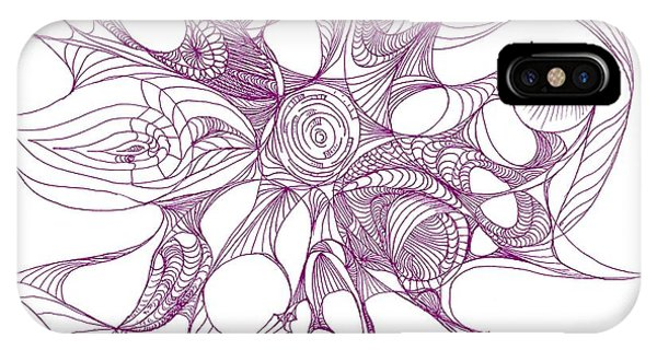 Serenity Swirled In Purple IPhone Case