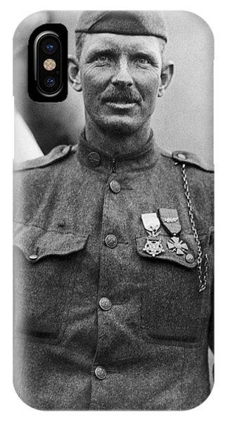 Wwi iPhone Case - Sergeant York - World War I Portrait by War Is Hell Store