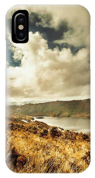 No People iPhone Case - Serpentine Dam Tasmania by Jorgo Photography - Wall Art Gallery