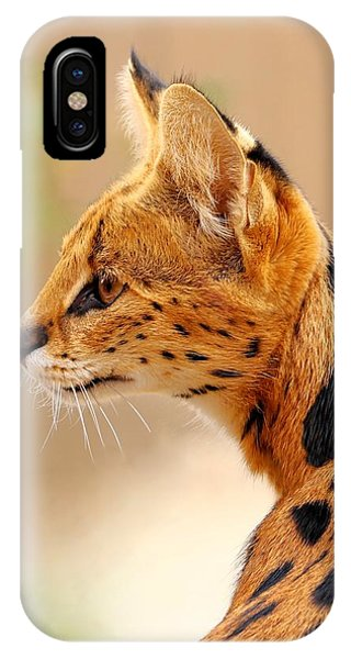 Serval - Extreme Hunter IPhone Case