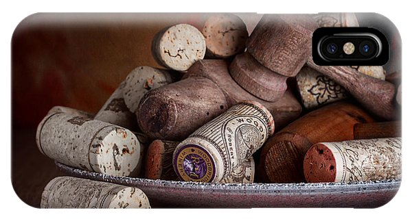 Saucer iPhone Case - Served - Wine Taps And Corks by Tom Mc Nemar