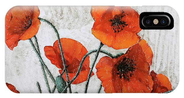 Poppies iPhone Case - Sette Papaveri by Guido Borelli