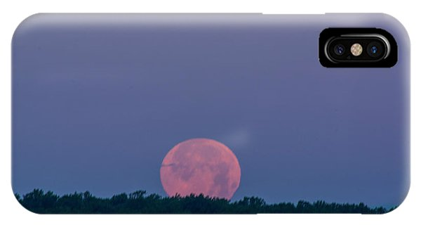 Setting Strawberry Moon IPhone Case