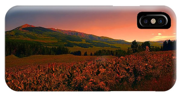Setting Sun In Crested Butte IPhone Case