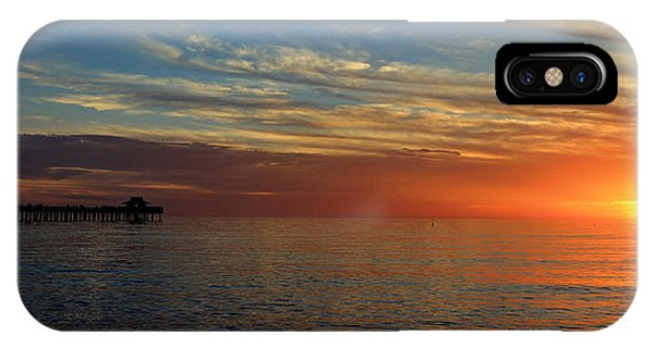 Setting Sun In Naples IPhone Case