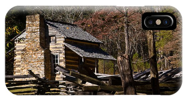 Settlers Cabin Cades Cove IPhone Case