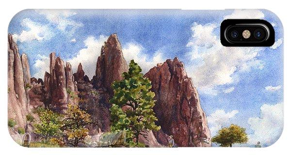 Trains iPhone Case - Settler's Park, Boulder, Colorado by Anne Gifford