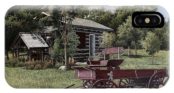 Settlers Village Bobcaygeon IPhone Case