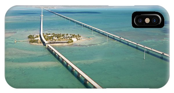 Pigeon iPhone Case - Seven Mile Bridge Crossing Pigeon Key by Mike Theiss