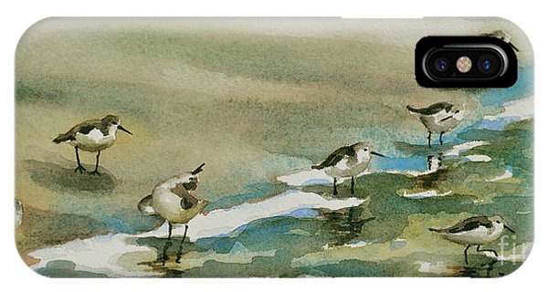 Seven Sandpipers At The Seashore  IPhone Case