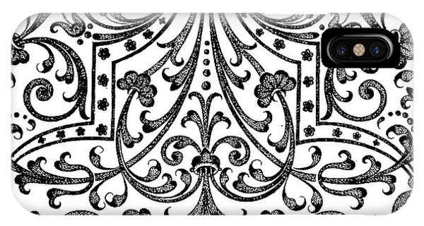 Repeat iPhone Case - Seventeenth Century Parterre Pattern Design by Jacques Mollet