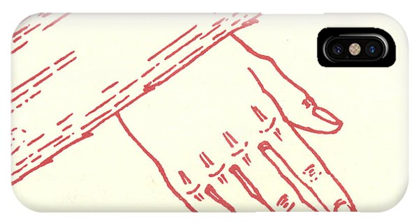 IPhone Case featuring the drawing Seventh Station- Jesus Falls The Second Time  by William Hart McNichols