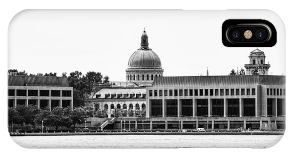 Naval Academy iPhone Case - Severn River View Of United States Naval Academy by Brendan Reals